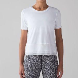 Lululemon Sole Training Short Sleeve White Size 10